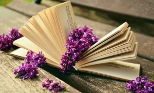 book with a flower inside it